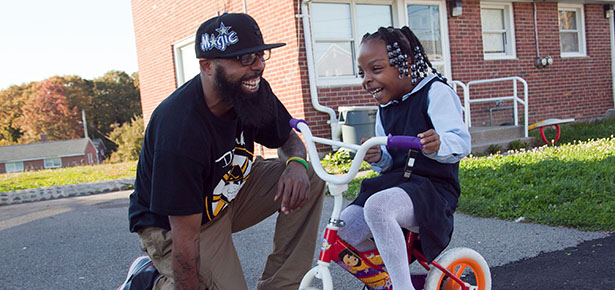 10-21-13-BOSTON (MATTAPAN), MAWillie Jones and his daughter Arianna, 6.